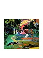 ARTE E TESSUTI by MANIFATTURE COTONIERE Panel Decorativo Gauguin-Matamoe (Verde/Multicolor)