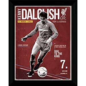 "Liverpool FC. Kenny Dalglish Retro Framed Picture - 16"" x 12"" by Liverpool F.C."
