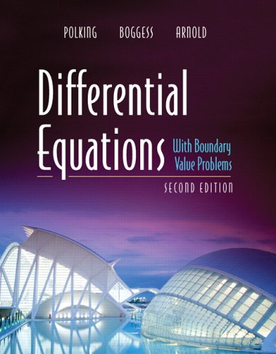 Differential equations homework help