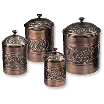 Old Dutch Antique Embossed Heritage Canister Set - 4 Piece Set