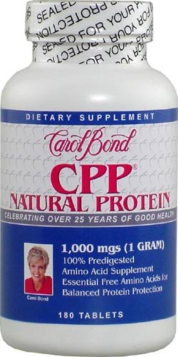 Carol Bond Cpp (Concentrated Predigested Protein) 1000 Mg 180 Tablets