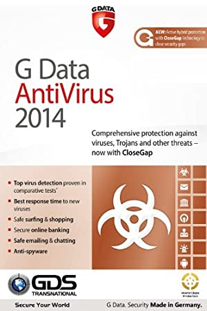 G Data AntiVirus 2014 3 PCs for 1 Year [Download]