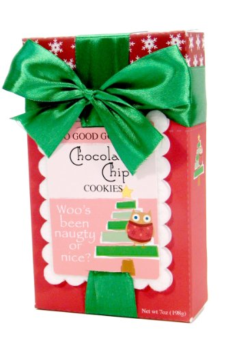 Too Good Gourmet Jolly Stamp Christmas Tree Cookies, Chocolate Chip, 7 Ounce
