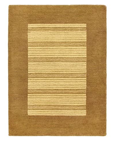 Hand-Knotted Indian Gabbeh Rug, Cream, 4' 4 x 5' 9