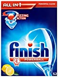 Finish All In 1 Lemon Sparkle 2 x Pack of 52 (104 Dishwasher Tablets)