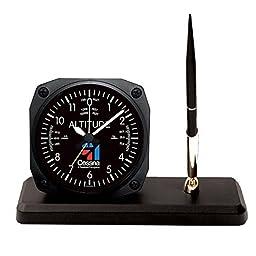 Trintec Cessna Altimeter Desk Pen Set with Alarm Clock Model CES-DS60 by Trintec