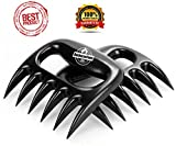 "✮PREMIUM - 5 Out of 5 Star Rating✮ Meat Shredder Claws For Pulled Pork, Beef, Chicken and Turkey - Best BBQ Tool and Fork to Lift, Transfer, Carve and Mix. Perfect No Steel Grill Accessory for Pork Butts and Shoulders - Top Barbecue and Smoker Gift - Best Seller Meat Handler and Grinder - Easy Shredding - Heat Resistant - No Gloves Needed - LIFETIME WARRANTY For Our BarbecueZoneUSA ""Bear- Wolverine"" Forks Set."