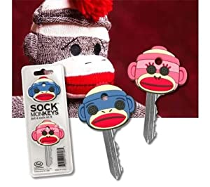 Sock Monkey Key Cap Covers Unique Old-Fashioned Cute