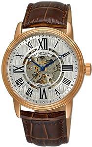 Stuhrling Original Men's Classic Delphi Venezia Automatic Skeleton Brown Watch - 1077.3345K2