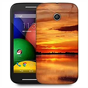 Snoogg Sunset View Designer Protective Phone Back Case Cover For Motorola E2 / MOTO E22