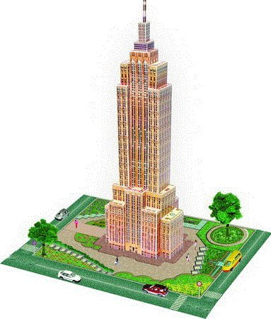 Cheap ida 3d Wooden Model Puzzle – Empire State Building, New York (B00421COXE)