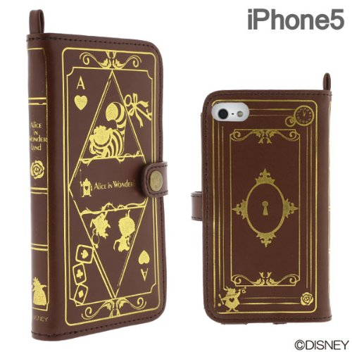 Great Price Disney Character Old Book Case for iPhone 5 (Alice in Wonderland)