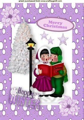 Weihnachtslieder-CHRISTMAS im Schnee, A4 von Nick Bowley