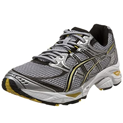 Asics Mens Gel-Cumulus 12 Silver/Black/Yellow Athletic Shoes US 8.5 FBA