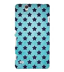 BLUE STARS GALAXY PATTERN 3D Hard Polycarbonate Designer Back Case Cover for Sony Xperia C4 Dual E5333 E5343 E5363 :: Sony Xperia C4 E5303 E5306 E5353