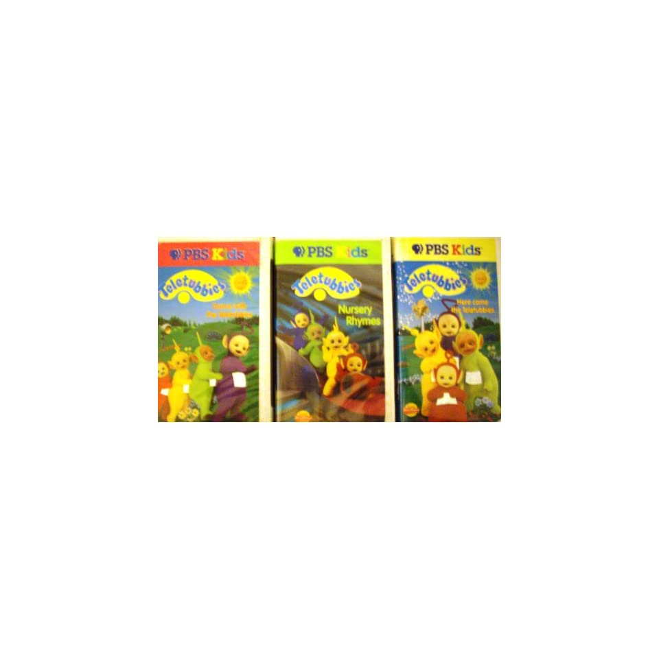 Teletubbies (Set Of 3 Vhs) Dance With Teletubbies, Nursery