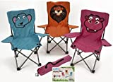 Summit Kids Children's Folding Animal Garden Camping Chair - Pink Hippo