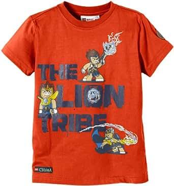 LEGO Wear T-shirt  Col ras du cou Manches courtes Garon - Orange - Orange (267 ORANGE) - FR : 5 ans (Taille fabricant : 110)