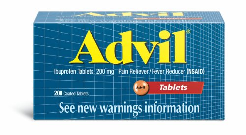 Buy Advil Ibuprofen, 200 mg, Coated Tablets 200 coated tablets (Advil, Health & Personal Care, Products, Health Care, Pain Relievers, Non-Aspirin, Ibuprofen)