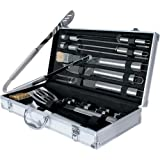 Jago 18 pc BBQ Barbecue Grill Utensils Tool Set