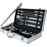 broil-master® BBQT01 Grillbesteck aus Edelstahl im praktischen Koffer 18 teilig