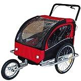 Kinderanhänger Fahrradanhänger Jogger Anhänger 2in1 502-01
