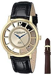 Stuhrling Original Men's 388S.333531 Classic Winchester Swiss Quartz Gold-Tone Watch Set