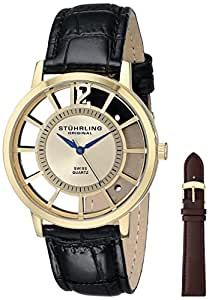 Stuhrling Original Men's 388S.333531 Classic Winchester Swiss Quartz Gold-Tone Watch Set