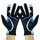 Fit39Ex Two Hands Multi-Flexible Material Ladies Golf Gloves-LFGKO39F-Black/Blue