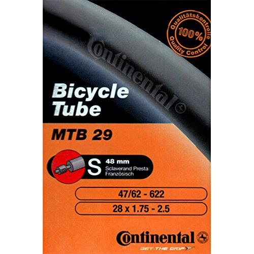 Continental MTB 29 Bicycle Inner Tube (Presta (48mm) - 28x1.75-2.5) (Continental Mtb Tires 29 compare prices)