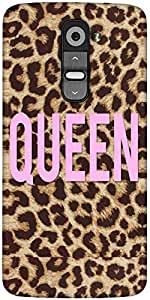 Snoogg Queen Leopard Print Designer Protective Back Case Cover For LG G2