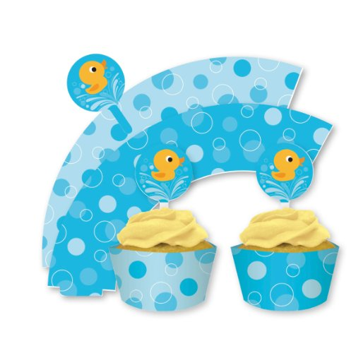 lil-quack-baby-shower-paperella-in-gomma-cupcake-wraps-picks-x-12