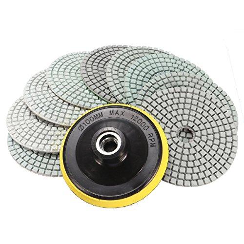 king-do-way-kit-de-9-pcs-4-100mm-diamant-polissage-pads-avec-m14-pad-auto-adhesif-pour-granit-beton-