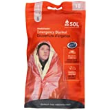 Adventure Medical Kits Sol Emergency Blanket, One Person, 2.9 Ozs.