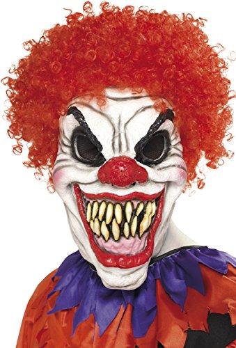 Smiffy's Scary Clown Mask with Hair (máscara/ careta)