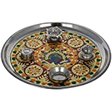 Crafts Creator Steel Decorative Plate (28.5 Cm X 28.5 Cm X 2 Cm, CC_25)