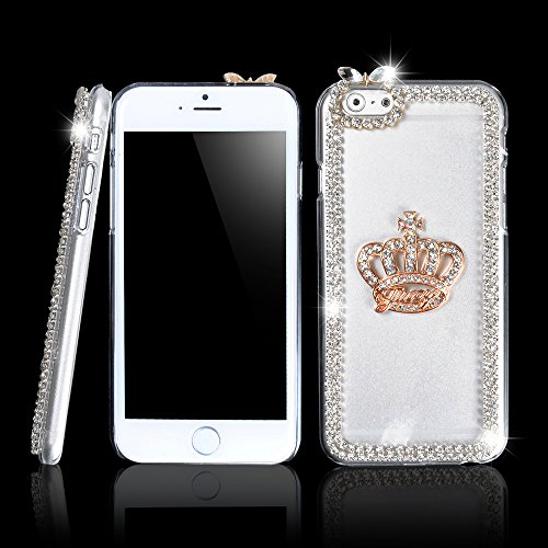 Ic Iclover 3D Crown Crystal Bling Diamond Clear Hard Case Cover For 4.7'' Apple Iphone 6