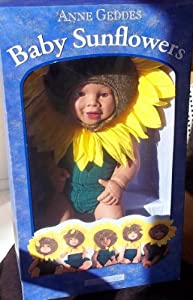 Anne Geddes 15 African American Baby SunFlowers Doll by Anne Geddes