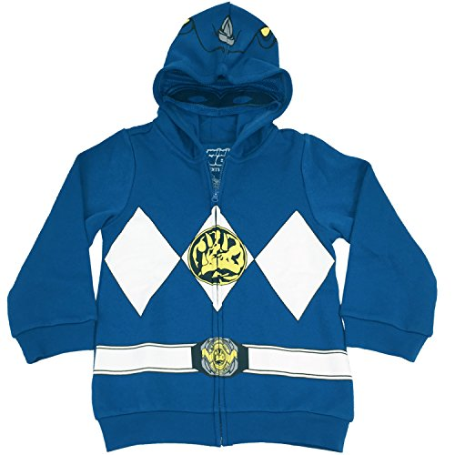 [The Power Rangers Little Boys I Am Costume Zip Hoodie Blue 7] (Power Ranger Samurai Costumes)