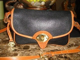 Blue And Tan Shoulder Bag 112