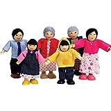 Hape - E3502 - Mini-poupée - Famille Heureuse - Asiatique