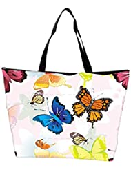 Snoogg Abstract Butterflies Pattern Design Designer Waterproof Bag Made Of High Strength Nylon