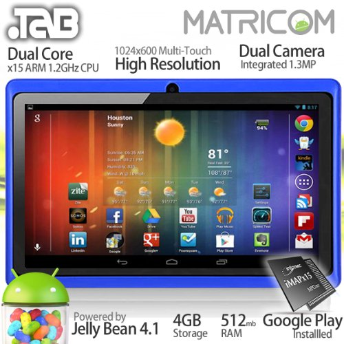 7″ .TAB Nero x2 Dual Core Android 4.1 Multi-Touch Tablet PC (Blue)