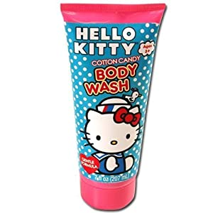 Sanrio Hello Kitty Cotton Candy Body Wash and Hello Kitty Kuromi Trifold Wallet Set
