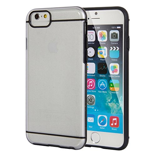 """[For Apple iPhone 6 Plus & 6S Plus 5.5″ Inch] INCIRCLE [Hybrid Slim Fit] Frost Transparent Heavy Drop Coverage Bumper Arduous Case with five.five Inch Show For iPhone 6 Plus & 6S Plus Verizon, AT&T, T-mobile, Dash, Unlocked, Global Telephone """"NEW"""" (Black)"""