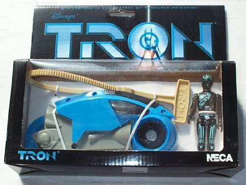 NECA Disney's Tron Blue Light Cycle with Flynn Figure 20th Anniversary Collector's Edition Limited to 5000
