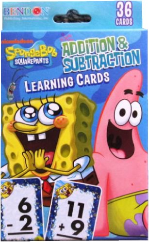 Spongebob Squarepants Learning Cards Addition & Subtraction - 36 Cards