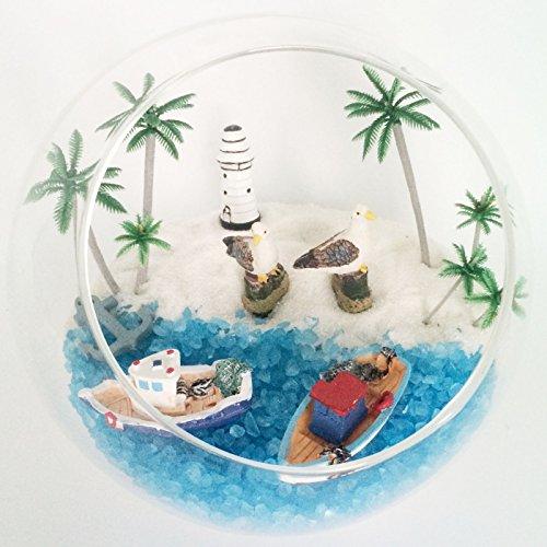 5 9 inch decorative round glass terrarium container pot for Decorative fish bowls