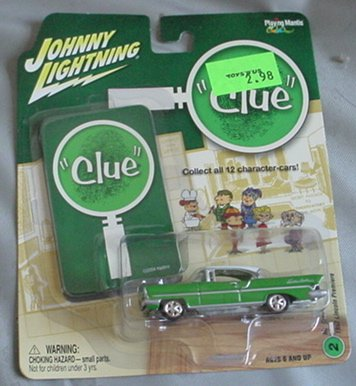 Johnny Lightning 1:64 Clue 1957 Lincoln Premiere Mr GREEN