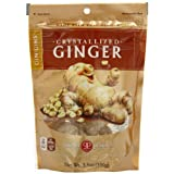 The Ginger People Crystallized Ginger, 3.5-Ounce Bags (Pack of 24) ~ The Ginger People